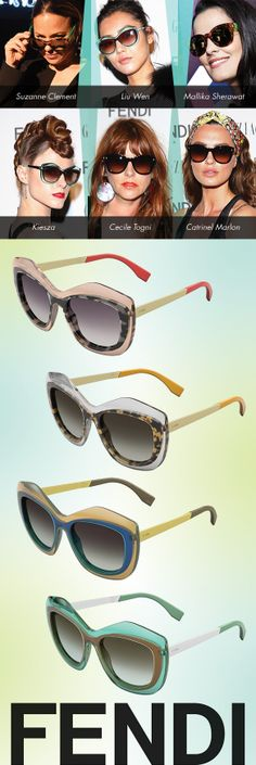 Toasting to FENDI's Color Block Collection: http://eyecessorizeblog.com/?p=5875