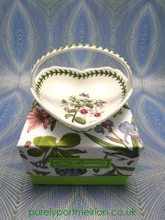 Portmeirion Botanic Garden Small Heart Shaped Basket