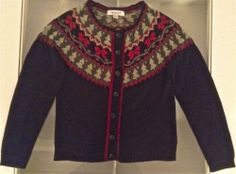 Christmas Holiday Cardigan Sweater Top Womens Ladies Size 8 Bling