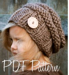 Knitting PATTERN-The Brielle Slouchy (Toddler, Child, and Adult sizes)
