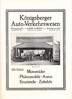 Auto Lowitz Königsberg Phänomobil Reklame 1922 Zittau Ostpreussen Messe Phänomen