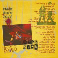 Punk Rock! Digital Scrapbook Layout using Anarchy in the UK Mini at Pixelscrapper