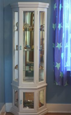 Another curio cabinet redo  Again white.