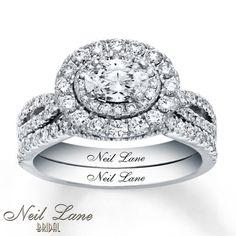 Neil Lane Bridal Set 1 1/2 ct tw Diamonds 14K White Gold