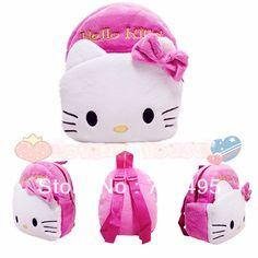 2013 3D hello kitty the children's cartoons bags / plush small backpacks for boys and girls kids / the knapsacks are children's $6.99