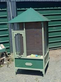 Great Bird Cage Made From Refurbished Armoire