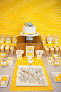Little Big Company | The Blog: {PARTY FEATURE} Sunny Yellow and Grey Elephant Themed Baby Shower by Lil Miss Macaron