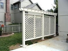 Pergola Style Privacy Wall - I think this would be FABULOUS in housing! I might just take this one on...