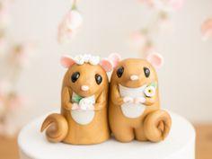 Dormouse - Mouse Wedding Cake Topper by Bonjour Poupette by BonjourPoupette on Etsy https://www.etsy.com/listing/232657153/dormouse-mouse-wedding-cake-topper-by
