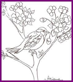 1Risco DVD pssaros pintura em tecido Ariane Cerveira pardal