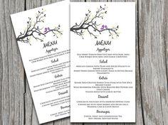DIY Wedding Menu Template Instant Download Printable Menu Navy