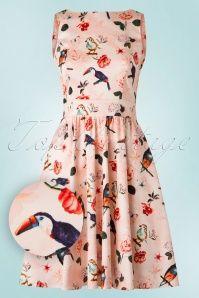 Lady V Macaw Pink Floral Dress 102 29 19217 20160527 0016W1