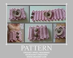 Ravelry: Perfect Heart Wrist & Headband pattern by Barbara Summers...free pattern!..Thanks for sharing!