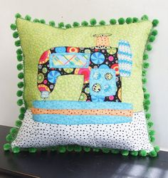 Sewing Machine Applique Quilt by Jangles on Etsy