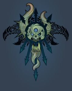 Chaos Symbol - The Raven Host, Ted Beargeon on ArtStation at https://www.artstation.com/artwork/nQny6