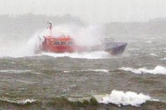 Pilot boat returns to Portsmouth (Pic:PA) Recurring Dreams, Large Waves, Rough Seas, Merchant Marine, Weather Network, Portsmouth, Water Crafts, Fishing Boats, Golden Gate Bridge