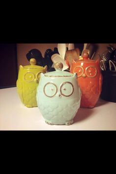 Owls for the kitchen!I want these for my kitchen they are so cute!!!!