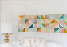 DIY gorgeous geometric patchwork artwork from origami paper DIY Wall Art DIY Crafts DIY Home Diy Wand, Mur Diy, Diy Home Decor, Room Decor, Geometric Wall Art, Geometric Painting, Geometric Origami, Geometric Patterns, Geometric Designs