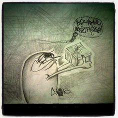 Estudo do dia ficou por conta do free hand, esboço para o grafite do fim de semana... #peace #love #rice #beans #sketchbook #design #drawing #graffiti #art #grafitesp #sampa #grafite - @vito_tec- #webstagram