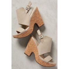 Two-Piece Cork High Wedge Shooties