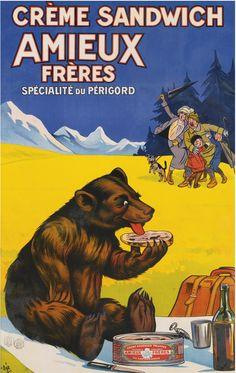 Creme Sandwich by MotionAge Designs Vintage Ads Food, Pub Vintage, Vintage Recipes, Vintage Art, Vintage Advertising Posters, Vintage Travel Posters, Vintage Advertisements, Poster Ads, Vintage Ads