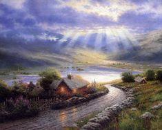 """Emerald Isle Cottage""  - thomas kincade"