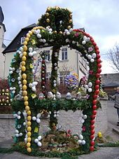 Easter tradition in Saxony, Germany