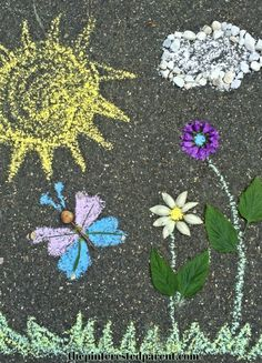 Land & Chalk Art - Nature and outdoor play for the kids - Summer arts &…