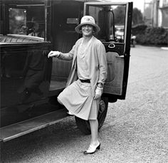 Coco Chanel wearing a jersey suit in Biarritz, 1928 copyright TopFoto/Roger-Viollet