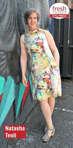 Dress: Linette Linen Dress from Toronto label Mandala Design