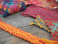 Andean flat braid structures by Rodrick Owen, recreations and original designs