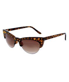 847e01ef27 Tortoise Browline Cat-Eye Sunglasses by Betsey Johnson