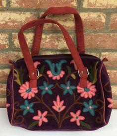 Deep-purple Short-strap Bag