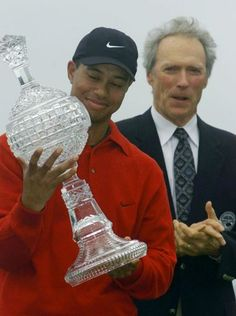 Victory No. 17: 2000 Pebble Beach National Pro-Am, Pebble Beach Golf Links, Pebble Beach, Calif. Feb. 3-7, 2000 (Monday finish). (Woods and Clint Eastwood.)