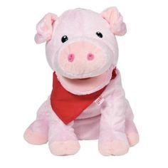 Peluche marionnette cochon