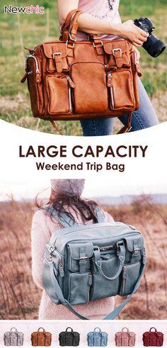 Brenice Women Casual Large Capacity Multifunction Handbag Solid Shoulder Bag is designer, see other popular bags on NewChic. Camera Purse, Tote Backpack, Popular Bags, Tote Handbags, Travel Bags, Aniversary Ideas, Backpacks, Shoulder Bag, Shoe Bag