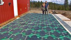 Back when the concept of global warming was still nascentonly eight years ago mind youScott and Julie Brusaw of Sagle Idaho began heavily contemplating an idea that Scott an electrical engineer had toyed with as a child: solar panel roads. Solar Energy System, Solar Power, Wind Power, Best Solar Panels, Solar House, Sustainable Energy, Sustainable Ideas, Sustainable Living, Solar Charger