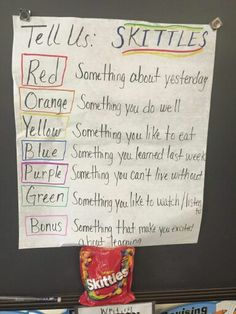 Skittles Introduction Activity …