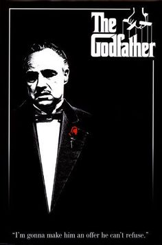 The Godfather poster. The Godfather-Marlon Brando-Red Rose, Movie Poster Print, 24 by The Godfather Poster, Godfather Movie, Godfather Series, Marlon Brando, Great Films, Good Movies, Der Pate Poster, Film Movie, Film Mythique