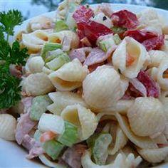 Macaroni Salad with a Twist Allrecipes.com   8 servings.