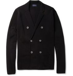 Lanvin Double-Breasted Knitted Cotton Cardigan | MR PORTER