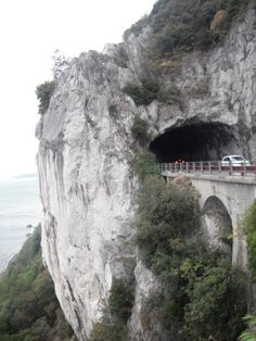 Trieste,Italy tunnel pass. Very cool to drive under.