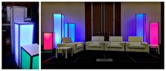 From the warehouse to the stage, we're loving the #custom lighting pillars that our systems department made!! #eventprofs