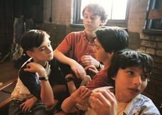 """Losers. All of us."" Jaeden Wesley, Wyatt Oleff, Jack Grazer, and Finn Wolfhard"