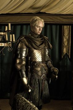 Gwendoline Christie as Brienne, Maid of Tarth