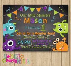 Monsters Birthday Invitation. Monster by StardustPartyPrints