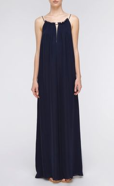 Wedding Ideas: long-navy-bridesmaid-dress