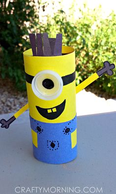 Minion Toilet Paper Roll Craft For Kids (Despicable Me) | CraftyMorning.com