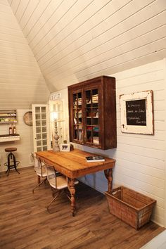 Dining room .. great use of space ... table against the wall and can be pulled out when needed.