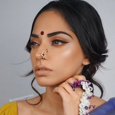 Indian Bride, Indian Wedding, Indian Bridal Makeup, Indian Bridal Hair, Bridal M… Indian Skin Makeup, Indian Makeup Looks, Indian Wedding Makeup, Best Bridal Makeup, Wedding Makeup For Brown Eyes, Wedding Makeup Tips, Bridal Makeup Looks, Bride Makeup, Hair Makeup